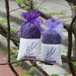 Wholesale Lavender Sachets Wholesale - Pure Natural Sachet Bags Lavender Buds Dried Flowers Package Relax Nerve Sleep Aid Perfume Satchel Deodorant Sachets garderobe 3 5dj A