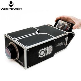Wholesale Hdmi Equipment - Wholesale-Woopower Simple DIY Smart Phone Projector Projection Equipment Toy Cardboard Mini Projector