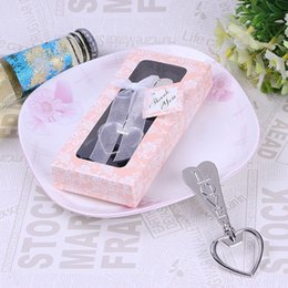 Wholesale Heart Shaped Bottle Openers - Creative Love Bottle Openers Heart Shaped Metal Bottles Opener Durable Beer Opening Tools For Kitchen Wedding Party Gifts 2 4rt A R