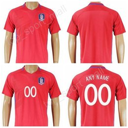 Wholesale National Soccer Team Uniform - South Korea Jersey 2017 Soccer 11 H M Son 16 S Y Ki Football Shirt Uniforms Kits National Team Red Color Make Customized Thailand Quality