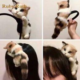 Wholesale Lolita Headdress - Japanese Style Mori Girl Lolita Kawaii Cat Head Hair bands Party Headdress Headwear Ornament Hair Accessories jewelry
