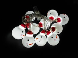 Wholesale Indoor White Christmas Lights - 10   20LED Children Room Night Light Christmas Snowman Elderly man lights a string Christmas party decoration pendant
