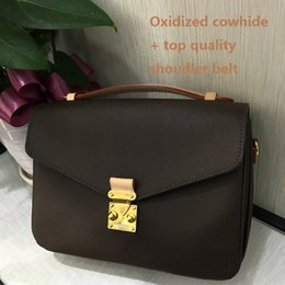 Wholesale Top Quality Cashmere - Top AAAAA quality Famous brand oxidize Leather POCHETTE METIS M40780 shoulder bag metis women messenger bags tote genuine leather handbag