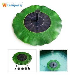 Wholesale 6v Solar Water Pump - Wholesale- LumiParty 7V 1.4W Solar Water Pump Decorative Fountain Pond Brushless Water Pump Waterproof Green Lotus Leaf Portable for Garden