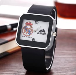 Wholesale Ad Round - Fashion Women Men's Unisex AD style brand Silicone Strap Analog Quartz Wrist watch AD10