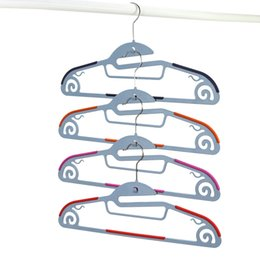 Wholesale Clothes Drying Hangers - 42cm Functional Dry Wet Clothes Hangers with Hook Non-slip Thin Space Save Storage Racks Plastic Hanger for Coat Suit Skirts Trousers 10pcs
