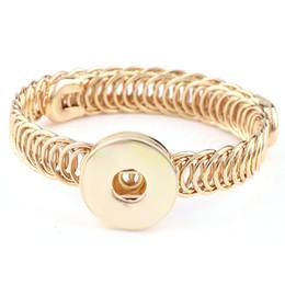 Wholesale Elastic Vintage Bracelet - 2017 Interchangable Elastic Fit 18mm Snap Buttons Vintage Snaps Button Bangle DIY Button Jewelry Charm Bracelet&Bangle