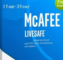 Wholesale Ios Security - Newest McAfee LiveSafe Antivirus internet security PC Mac Android iOS 1 Year 2YEAR 3YEARS Unlimited Devices