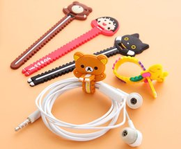 Wholesale Cute Usb Cable - Cute Cartoon Animal Earphone Wire Cord Cable Organizer Holder For iPhone 7 6s Samsung Headphone USB Cable
