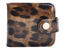 Wholesale Leopard Makeup Kit - Genuine leather Leopard Lipstick Bag With Mirror High Quality Lady MakeUp Bag Travel Kit Organizer Casual Cosmetic Bag Best Gift for Ladies