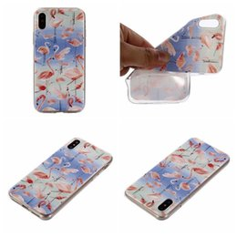 Wholesale Blue Floral Iphone Cases - Flamingo Flower Soft TPU Case For Iphone 8 7 Plus 6 6S SE 5 5S Clear Stylish Bird Cute Cartoon Silicone Floral Cell Phone Back Skin Cover
