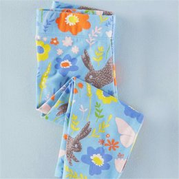 Wholesale Spring Leggings For Girl - Fashion Flowers Kids Leggins Cotton Girls England Style Tights for Spring and Fall Blue Cute Kids Pants