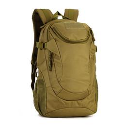 Wholesale Waterproof Molle Backpack - Wholesale- New Vintage 25L Camouflage Backpack Student School Bag Waterproof High Quality Designer Molle Pack M75