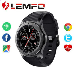Wholesale Thinnest Waterproof Wrist Watch - LEMFO LF16 Android 5.1 512MB+8GB MTK6580 1.39 inch Ultra Thin Smart Watch Phone support wifi bluetooth GPS SIM card smartwatch