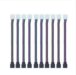 Conector de tira impermeável on-line-4pin rgb led conector cabo de fio de conector fêmea para 3528/5050 smd não-impermeável rgb led luz de tira