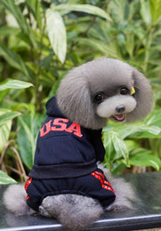 Wholesale Wholesale Wedding Supplies Usa - Wholesale dog clothing, pet supplies dog clothes Teddy clothes USA four-legged sweater