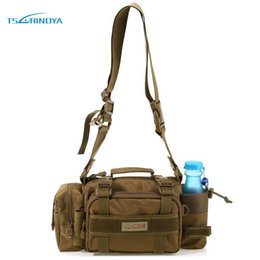 Wholesale Trulinoya Lure Bag - Wholesale- Trulinoya Fishing Bag Multifunctional Outdoor Sport Fishing Reels Lure Waist Pack Pouch Pole Package Fishing Tackle Bag