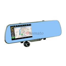 """Wholesale Gps Camera Parking Sensor - 5.0"""" Touch Screen Android System Car DVR GPS WiFi 1080P Dash Camera Parking Rearview Car Mirror Camera Video Recorder"""