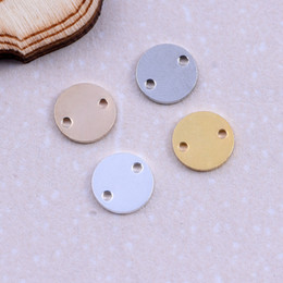 Wholesale Brass Discs - wholesale high quality brass Gold silver color tag round charms Stamped smooth Disc Coins Round Charms Pendants for jewelry DIY making parts
