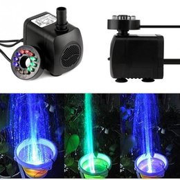 Wholesale Pond Pump Submersible - Wholesale- Mini Electric Submersible Water Pump Color RGB With 12 LED Fountain Garden Pond Fish Tank Fountain Pool Lights