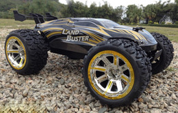 Wholesale Control Car Rc - Wholesale- 4WD 50km h RC Car High Speed Remote Control Off Road Dirt Bike Classic Toys Truck Big Wheel Boy Gift