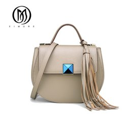 Wholesale Cloe Bag - Luxury Designer Women Handbag Genuine Leather Shoulder Bag Female Cloe Bag With Tassel Fashion Small Bag bolsa feminina