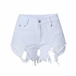 Wholesale High Waist White Denim Shorts - Summer high waist shorts white ripped mini denim jeans shorts women short sexy designer feminino hot plus size bottoms 2017