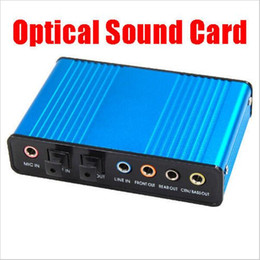 Wholesale Computer Laptops - Popular External Optical USB Sound Card 6 Channel 5.1 Audio Sound Card Adapter SPDIF Optical Controller for PC Laptop Computer