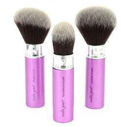 Wholesale Retractable Foundation Brush - vela.yue Retractable Powder Blush Foundation Makeup Brush Face Highlight Contour Blend Beauty Tool