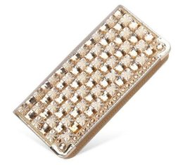 Wholesale Black White Patent Purse - 2017 Luxury rhinestone women wallets patent leather high quality wallet lady fashion clutch bag casual purses party Vintage