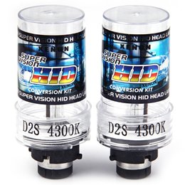 Wholesale Super Vision Xenon Hid - D2S 4300K Auto Lamp 2 PCS 35W Xenon Super Vision HID Head Lamp Metal Holder Replacement Light Lamp Bulb Car Headlight Lighting