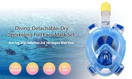 Wholesale Mask For Underwater - 2017 Anti Fog Full Face Diving Mask Diving Mask Underwater Scuba Snorkeling Set with Anti-skid Ring Snorkel for Adult and Kids Safe Swimming