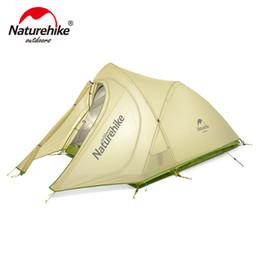 Tapis de camping double en Ligne-Farbic en nylon 20D ultra-léger 2 personnes de NatureHike avec du silicium enduit des tentes de camping extérieures imperméables avec le tapis NH17T0071-T
