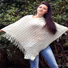 Wholesale Elegant Fashion Sweater - Wholesale-Promotion Elegant Fashion Clothes Sequine Poncho Cloak Sweaters For Women Autumn Winter Pullovers Knitwear