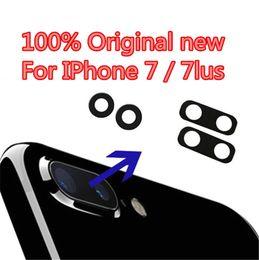 Wholesale Iphone Back Glass Bezel - For iPhone 7 & 7 Plus New Original Back Rear Camera Glass Lens + Frame Bezel Replacing Parts