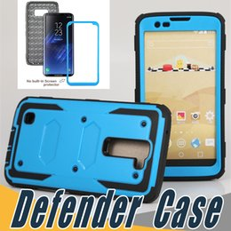 Wholesale Film Plastics - For iPhone 6 6S 7 Plus Defender Rugged Shockproof Hybrid Case Cover With Screen Film For Samsung Galaxy S6 S7 Edge S8 Plus LG G4 Note V10