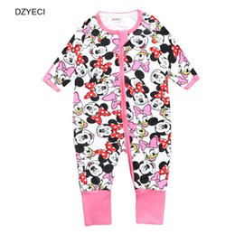 Wholesale Baby Winter Overalls - Mickey Baby Boy Girl Romper Fashion Minnie Mouse Newborn Cartoon Print Jumpsuit Kid Toddler Overall Clothes Layette Boutique Costume