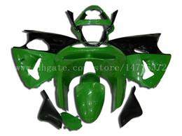 Wholesale Zx6r Fairing 98 - ZX 6R fairings for Kawasaki NINJA ZX 6R 1998 1999 ZX-6R 98-99 ZX6R 1998-1999 ZX6R 98-99 fairing kit #8F74H green