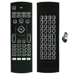 Wholesale Ir Qwerty Remote - X8 Backlight MX3 Mini Keyboard With IR Learning Qwerty 2.4G Wireless Remote Control 6Axis Fly Air Mouse Backlit Gampad For TV Box