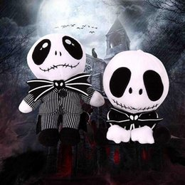 Wholesale Baby Jake - Nightmare Christmas Jack Plush Toy 20-25cm Cute Skull Standing Sit Jake Stuffed Soft Dolls Skellington Plush Doll