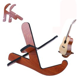 Wholesale Acoustic Guitar Holder - Wooden Removable Guitar Stand Frame Floor Rack Holder For Electric Acoustic Bass guitar supporter