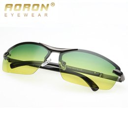 Wholesale Vision Designer - Wholesale- 2017 Aoron New Brand Designer Men Driving Day Night Vision Goggles Fashion Polarized Sunglasses Sun Glasses Eyewear oculos 9903