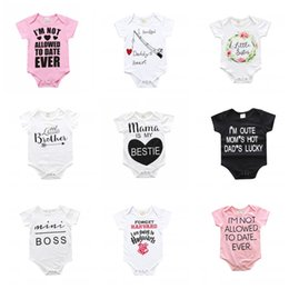 Wholesale Sleepsuit Romper - INS Kids Romper Baby Jumsuit Hot Infant Newborn Sleepsuit Baby Clothes Cotton Long Sleeve Letter Printed Bodysuits Kids Clothing X15