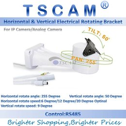 Wholesale Rs485 Ptz Camera - TSCAM new Outdoor CCTV Bracket PTZ Electrical Rotating RS485 Connection Pan Tilt Rotation Motor Built-in For IP Camera Mount Accessories