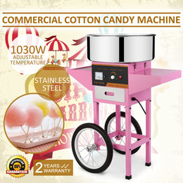 Wholesale Electric Carts - Candy Floss Maker Stainless Steel Candy Floss Machine 20.5 Inch Electric Candy Floss Maker With Cart&Cover