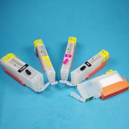 Wholesale Pixma Ink Cartridges - Empty 5 pcs + Refill ink cartridge PGI-450XL CLI-451XL PGI-450 CLI-451 for Canon PIXMA MG5440 MG6340 IP7240 MX924 MG5540 MG6440 MG7140