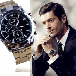 Wholesale Perfect Band - Perfect Gift waterproof mens watches top brand luxury Business watch men Stainless Steel Band Machinery Quartz Watch Mmay26 H0