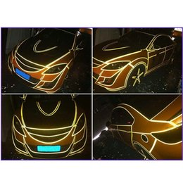 Wholesale Reflective Safety Tape - Wholesale- 2*300cm Car Emergency Reflective Safety Strip Warning Conspicuity Pinstripe Tape Film Sticker Decoration Film 6Colors CarStyling