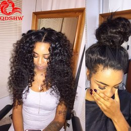 Wholesale Indian Curly Lace Front Wigs - 360 Frontal Wigs Prea Plucked For Black Women Curly 360 Lace Frontal Wig Pre Plucked With Baby Hair Curly 360 Full Lace Wig