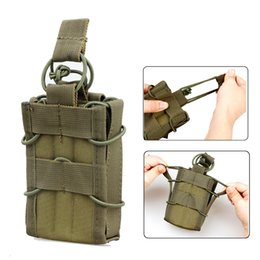 Wholesale Casual Magazine - Magazine Holder 1PC Tactical Molle Compatible Single Stacker Open-Top Mag Pouch Holder For M4 M16 AR15 Magazines